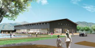 2020年秋にオープンを予定するKADAR TERRACE KINDAICHIの外観イメージ(カダルエステート提供)