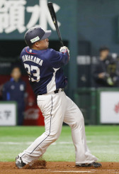 8回西武無死、山川穂高が左越えに本塁打を放つ