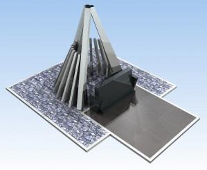新設される「航空安全祈念の塔」のイメージ図(一般財団法人慰霊の森提供)