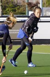 オランダ1部リーグで3季目を迎えたホッケー女子日本代表の及川栞=オランダ・アイントホーフェン(共同)