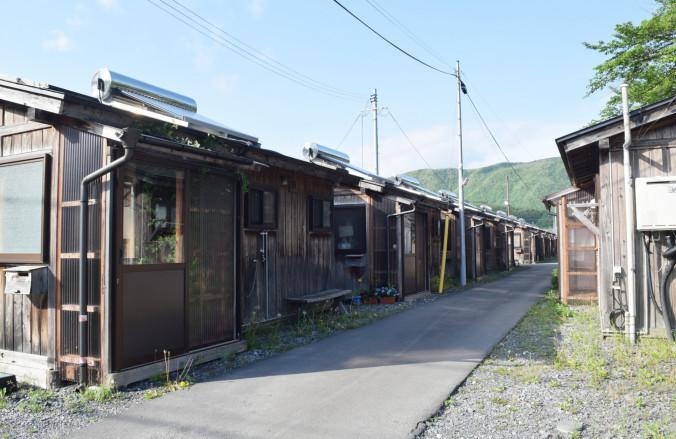 利用期限が原則2020年3月末までとなった仮設住宅中上団地=住田町下有住