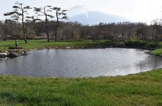 新たに芝生や池などを整備したガーデンパーク