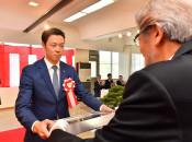 小林陵侑選手に日報文化賞特別賞を贈呈