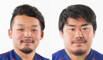 釜石の新主将小野航大(左)と中野裕太