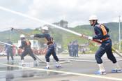 滝沢で消防ポンプ操法競技会