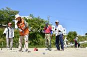 眺望最高、プレー満喫 グラウンドゴルフ、沿岸住民が参加