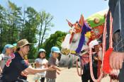 馬コは友達、応援してね 保育園で開催PR