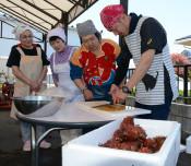 旬のホヤ、多彩に調理 綾里漁協の店で「教室」