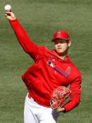 大谷翔平が投手練習 右手に投球直撃後は初