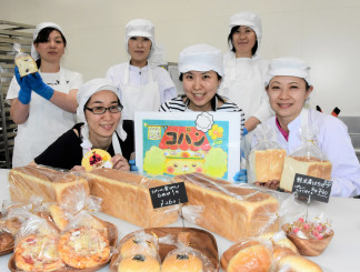 まるこパン工房コパンのメンバー。子どもが安心して食べられるパンを通じ、地域の活性化を目指す