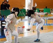 フェンシング団体・一関二、男女とも優勝 県高校総体