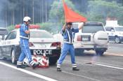 事故処理中の受傷事故防げ 西和賀で訓練会