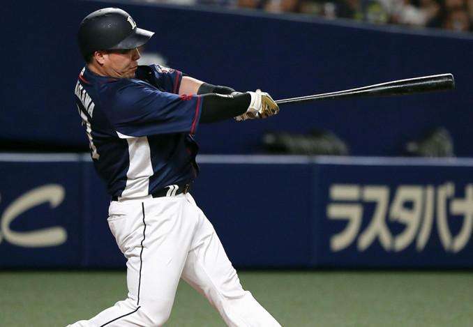 2回西武無死、山川穂高が左越えに先制本塁打を放つ=ナゴヤドーム