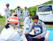 噴火想定、初の実動訓練 雫石・秋田駒ケ岳