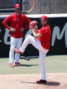 大谷、手術後初の投球練習 「気持ち良く投げられた」