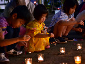 揺れる炎、災害犠牲者悼む 県内2市で線香花火イベント