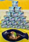 サバ+シイタケ缶 特産発信 宮古水産高など3団体開発