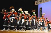 北上翔南高 創立100年祝いの舞 鬼剣舞部が発表会