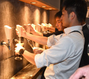 駅近くで造りたてビール 花巻・醸造所併設店プレオープン