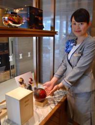 青柳匠郎さんの漆器作品を紹介するショールーム