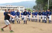 プロから学ぶ打撃 陸前高田・元ソフトバンク選手が教室