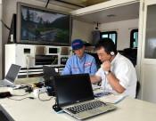 どう守る、豪雨時の通信 雫石町など7機関、移動設備用い訓練