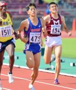 佐々木(盛岡一)12位 南部九州総体・陸上男子1500メートル