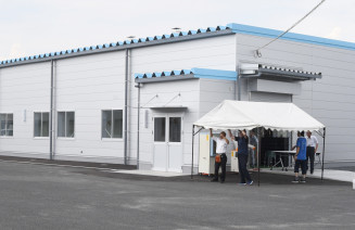 花泉工場とともに産業ロボット部品製造を受け持つ一関工場第3工場=一関市東台