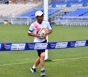 寛平さん、復興願いゴール みちのくマラソン・釜石でW杯激励