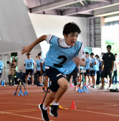 スーパーキッズ、体力披露 日本スポーツ協会、花巻で測定会