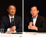 県政課題巡り2氏論戦 知事選・盛岡で公開討論会