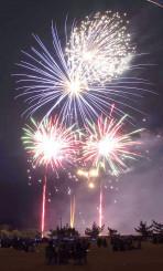 音楽とともに夜空を彩る花火