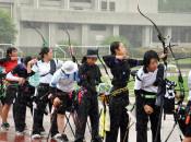 韓国不参加で開幕 雫石の高校アーチェリー交流