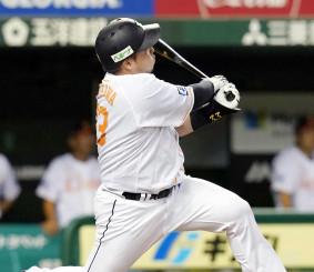 2回西武無死、山川穂高が左越えに本塁打を放つ=メットライフドーム