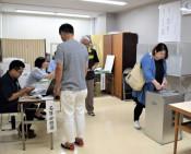 知事選期日前投票スタート 106カ所で順次