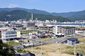 土地区画整理事業を導入したJR大船渡駅周辺地区。大船渡市は震災伝承と検証の動きを強める