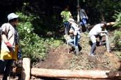 障害児に森の遊び場 釜石・三陸駒舎、来月お披露目