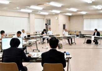 田野畑村の新庁舎建設候補地をアズビィ体育館周辺とする方針を決定した選定会議