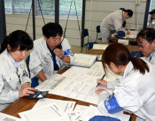 地震、津波に備え行動確認 陸前高田市、職員が応急対策訓練