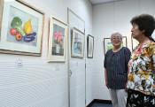 静物や風景、癒やしの水彩 花巻・水の会絵画展