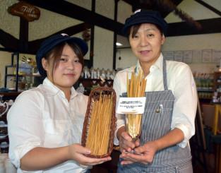 アーク牧場のレストランなどで提供されている麦わらストロー。天然素材を活用し一本一本の太さも違う
