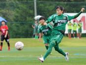 専大北上 7年連続V サッカー高校女子県大会