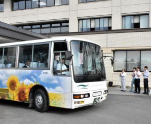 運行を開始した矢巾町市街地循環バス