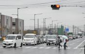 流動的な交通状況 盛岡と矢巾・岩手医大間の通勤