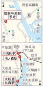 BRT 来春4駅新設へ 大船渡と陸前高田