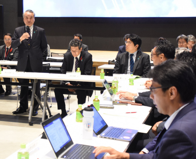 釜石鵜住居復興スタジアムの今後の運営体制を協議する関係者