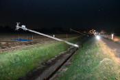 強風で電柱8本倒れる 花巻・石鳥谷、通電しない状態続く