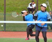 大井・菊地(黒沢尻北高出)組3回戦へ 北上で全日本Sテニス