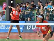 高橋(南都田中出)のペア準V 北上・全日本Sテニス女子