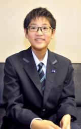 「まず、先行する同世代に追いつき、プロ棋士になりたい」と意気込む菅原至恩さん